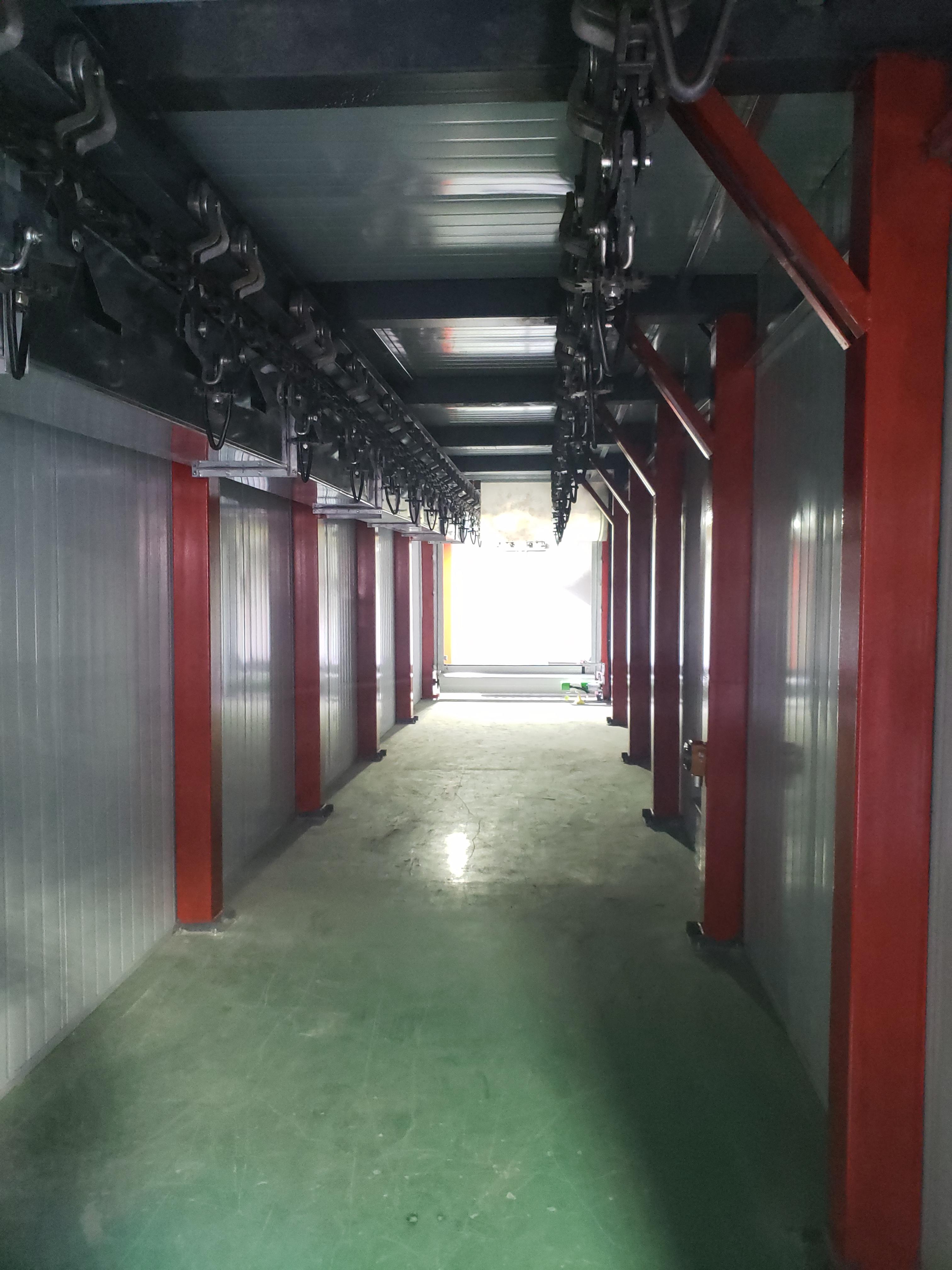 北京喷涂线安装完毕